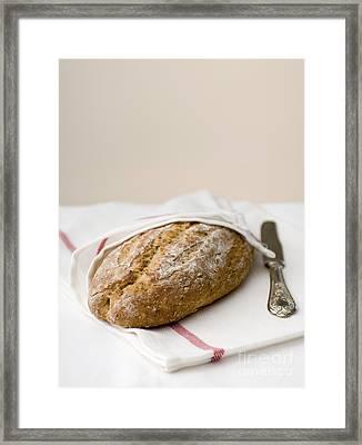 Freshly Baked Whole Grain Bread Framed Print