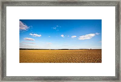 Freshly Tilled Field Framed Print by Tom Gowanlock