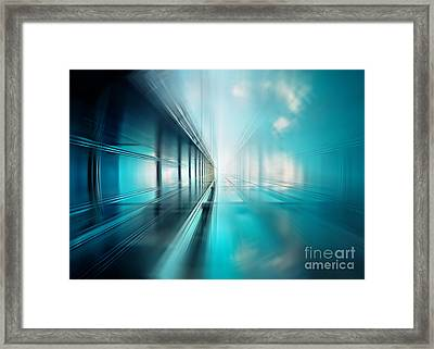 Freshness Of Air Framed Print by Frank Waechter