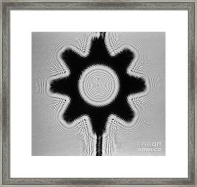 Fresnel Diffraction Pattern Framed Print