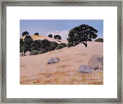 Fresno Foothills Framed Print