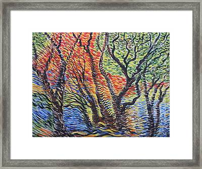 Frest Reflection Framed Print by Julia Rita Theriault