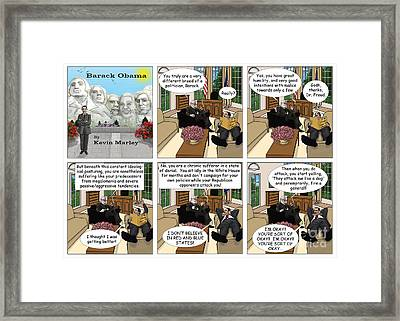 Freud And His Diagnosis Framed Print by Kevin  Marley