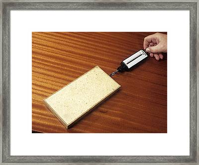 Friction Demonstration, Image 1 Of 2 Framed Print by Andrew Lambert Photography