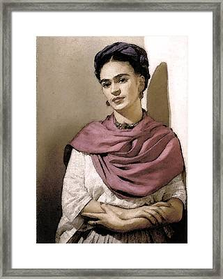 Frida Interpreted 2 Framed Print by Lenore Senior