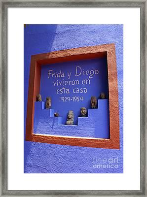 Frida Kahlo Museum Mexico City Framed Print