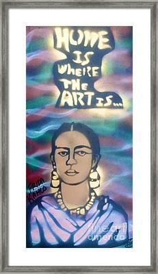 Frida Kahlo Framed Print by Tony B Conscious