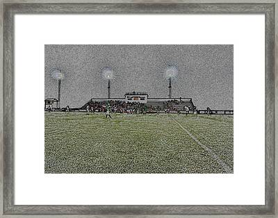 Friday Night Lights Digital Art Framed Print