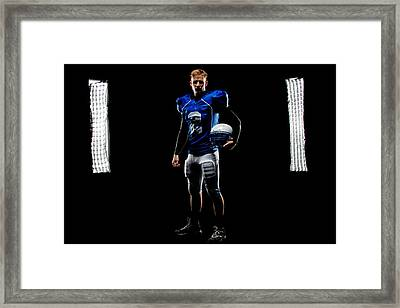 Framed Print featuring the photograph Friday Night Lights by Jim Boardman