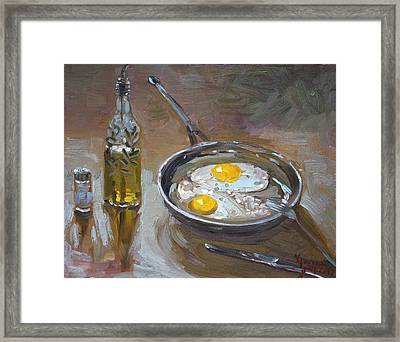 Fried Eggs Framed Print by Ylli Haruni