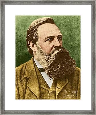 Friedrich Engels, Father Of Communism Framed Print