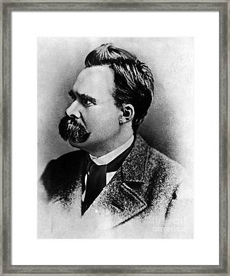 Friedrich Wilhelm Nietzsche, German Framed Print by Omikron