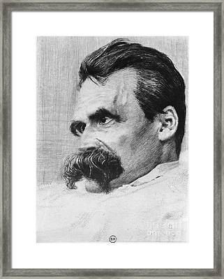 Friedrich Wilhelm Nietzsche, German Framed Print by Photo Researchers