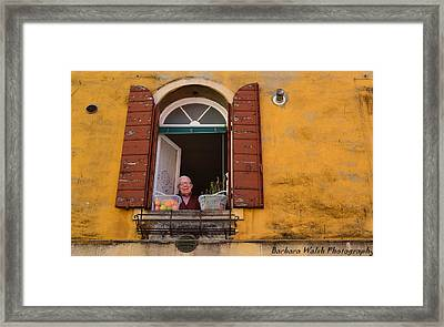 Friendly Man Framed Print by Barbara Walsh