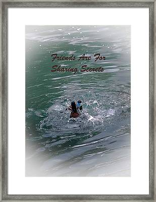 Friends Are For Sharing Secrets Framed Print by DigiArt Diaries by Vicky B Fuller
