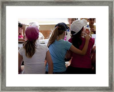 Framed Print featuring the photograph Friends by Carole Hinding