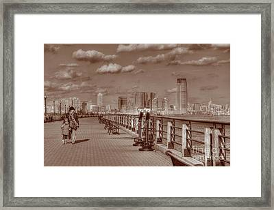 Friends Sepia Framed Print