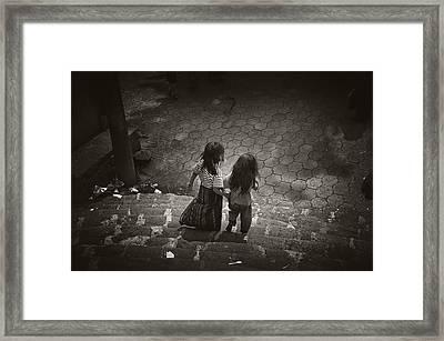 Friends Framed Print by Tom Bell