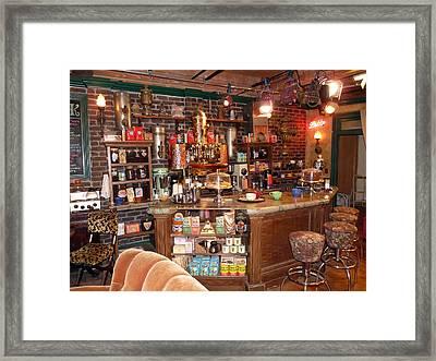 Friends Tv Show Set Framed Print by Jeff Lowe