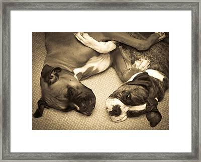 Friendship Embrace Framed Print by DigiArt Diaries by Vicky B Fuller