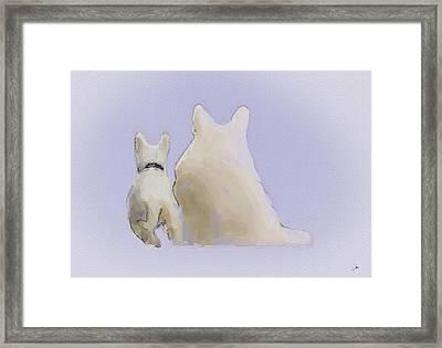 Friendship Framed Print by Ron Jones