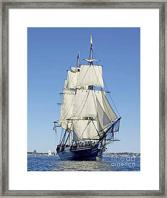 Friendship Sloop Out Of Salem Framed Print