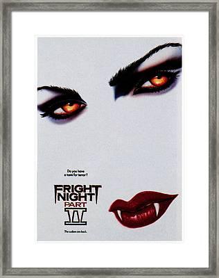 Fright Night Part 2, 1988 Framed Print by Everett