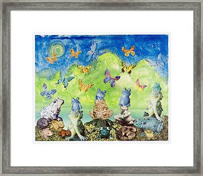 Framed Print featuring the mixed media Frog Lake by Douglas Fromm