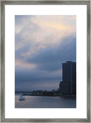 from Brooklyn height Framed Print by Nina Mirhabibi