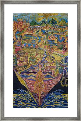 From Land We Sail To See Framed Print by Timothy  Foley