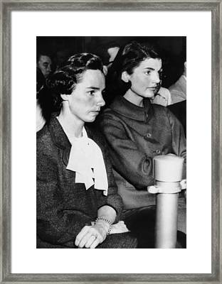 From Left, Ethel Kennedy, Jacqueline Framed Print by Everett