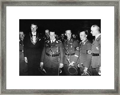 From Left, Nazi Officials Georg Von Framed Print by Everett