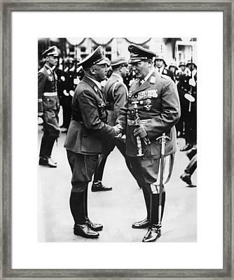 From Left, Publisher Of Der Stuermer Framed Print