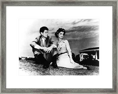 From Left, Senator John F. Kennedy Framed Print by Everett