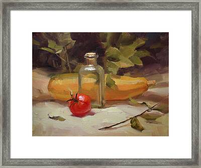 From Our Garden Framed Print by Richard Robinson
