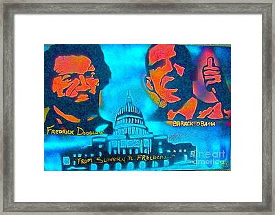 From Slavery To Freedom Framed Print by Tony B Conscious