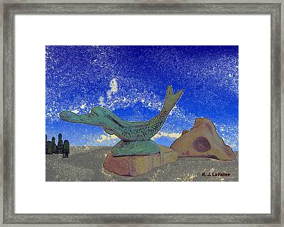 From The Dreams Of Mankind. Framed Print