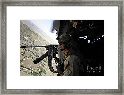 From The Side Of An Hh-60g Pave Hawk Framed Print by Stocktrek Images