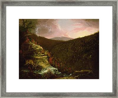 From The Top Of Kaaterskill Falls Framed Print by Thomas Cole