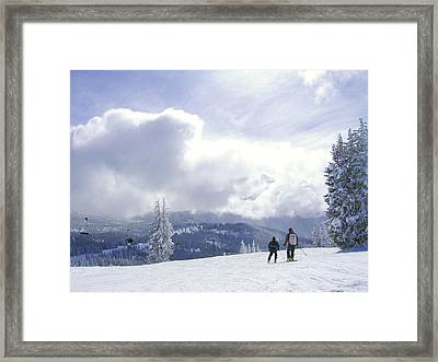from the top of Sunshine chair Framed Print