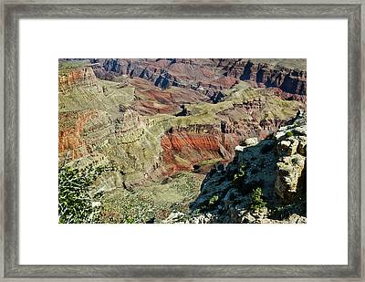 Framed Print featuring the painting From Yaki Point 6 Grand Canyon by Bob and Nadine Johnston