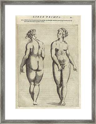Front And Back View Of An Idealized Framed Print by Everett