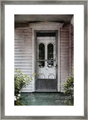 Front Door Of Vintage House Framed Print by Jill Battaglia