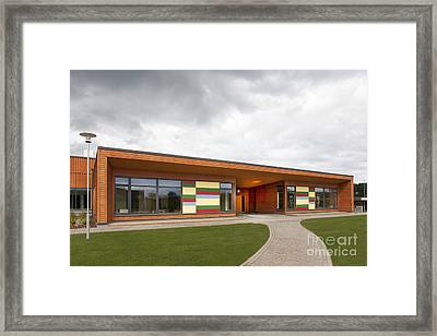 Front Entrance To An Elementary School Framed Print by Jaak Nilson