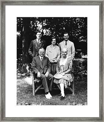 Front Future President Herbert Hoover Framed Print