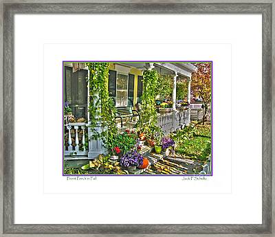 Front Porch In Fall Framed Print by Jack Schultz