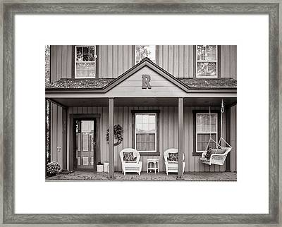 Front Porch Framed Print by Michael Avory