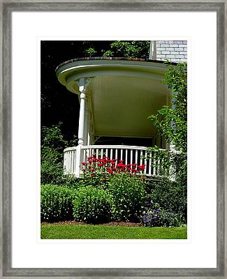 Front Porch Of Millers House Framed Print