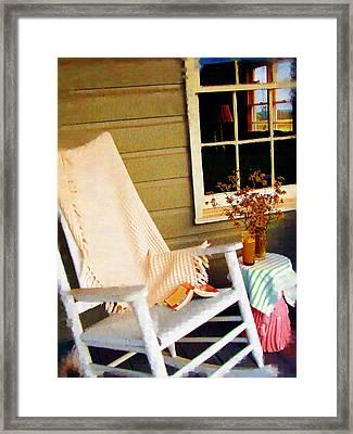 Front Porch Pleasures Framed Print by Edie Kynard