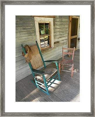 Front Porch Shadows Framed Print by WarrenThompson